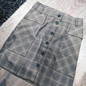 NWOT | Zara | plaid midi skirt